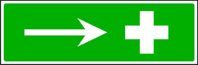First Aid to the right safety sign