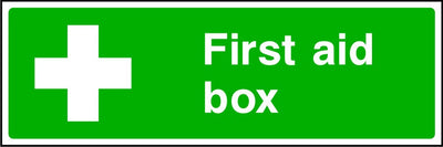 First Aid Box safety sign