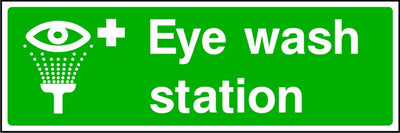Eye Wash Station safety sign