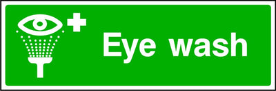 Eye Wash safety sign