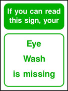 Eye wash is missing safety sign