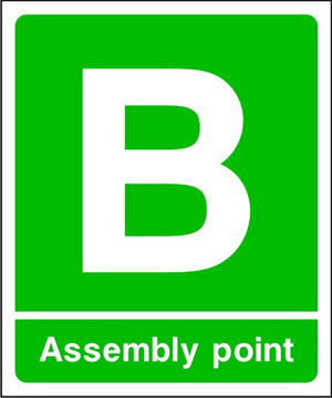 Assembly Point B Fire Escape Sign