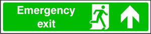Emergency Exit Arrow Up Sign
