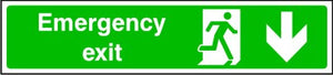 Emergency Exit Arrow Down Sign
