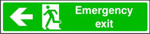 Emergency Exit Running Man and Arrow Left Sign