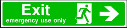 Exit Emergency Use Only Arrow Right Sign
