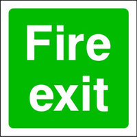 Fire Exit Emergency Escape Sign