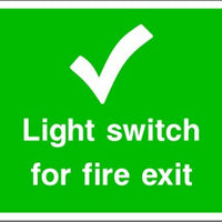 Light Switch for Fire Exit Safety Sign