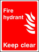 Fire hydrant keep clear sign