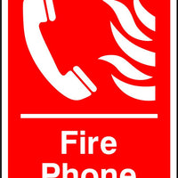 Fire phone safety sign