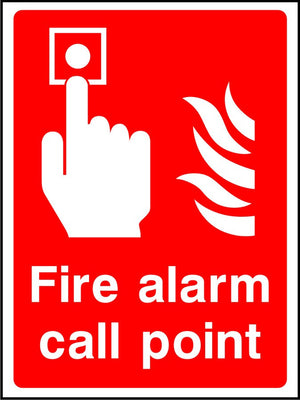 Fire alarm call point safety sign