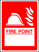 Custom Fire point safety sign