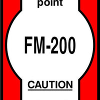 FM-200 Release manual control point safety sign