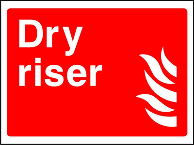 Dry Riser safety sign