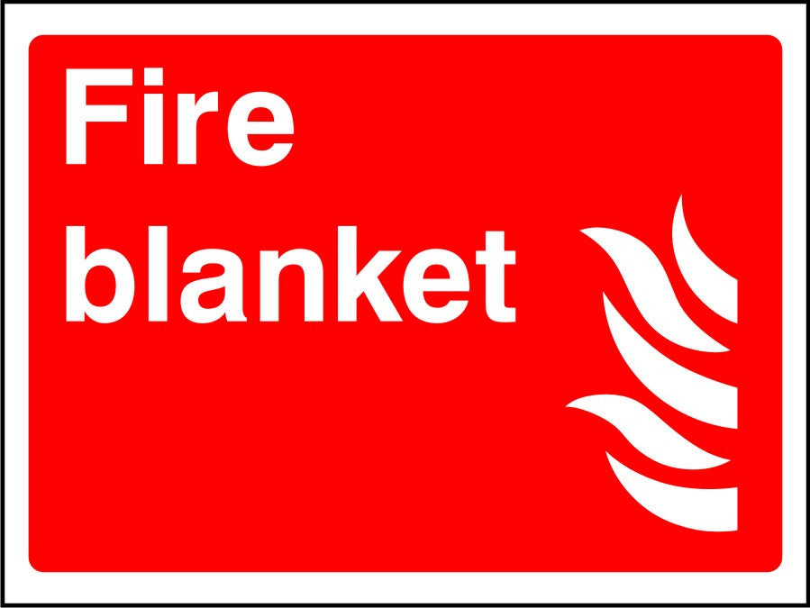 Fire Blanket safety sign