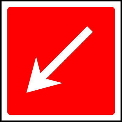 Diagonal Fire Arrow safety sign