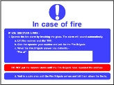 In case of fire action notice sign