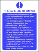 The safe use of knives sign