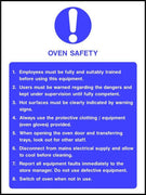Oven safety sign