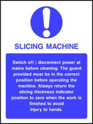 Slicing Machine safety sign
