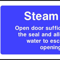 Steam Oven safety sign