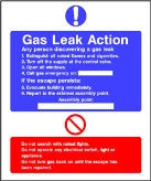 Gas leak action notice sign