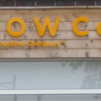 Acrylic letters on fascia