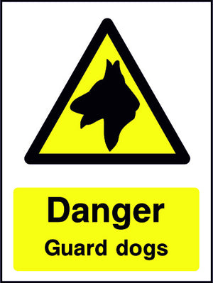 Danger Guard Dogs safety sign