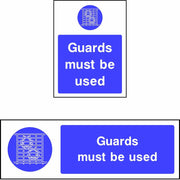 Guards Must be Used safety sign