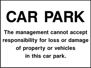 car park notice sign