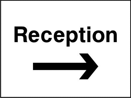 Reception arrow right sign