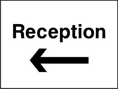 Reception arrow left sign