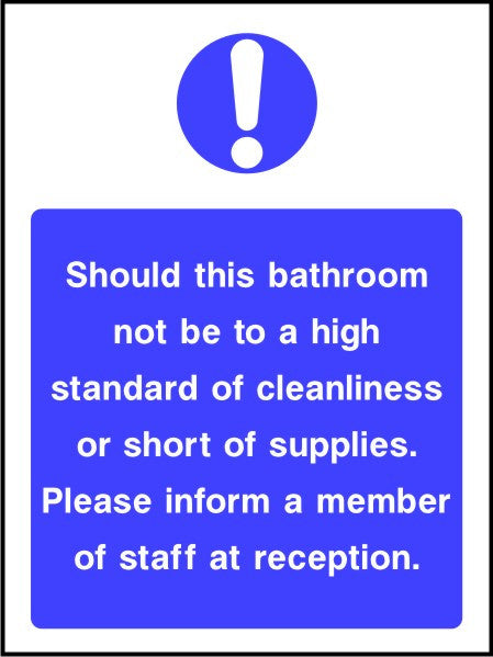 Bathroom hygiene sign