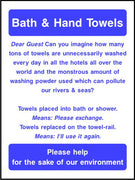 Bath & Hand Towels environmental sign