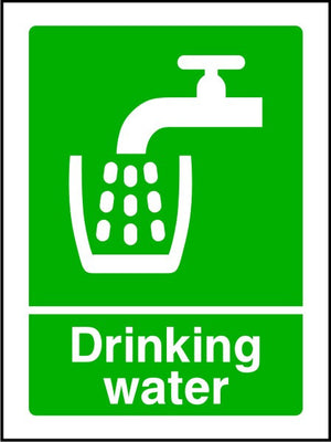 Drinking Water safety sign