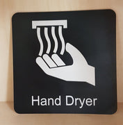 Engraved Hand Dryer Symbol Sign