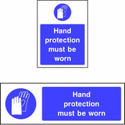 Hand Protection Must Be Worn safety sign