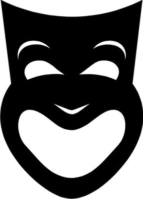 Happy theatre mask in vinyl