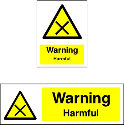 Warning Harmful Safety Sign