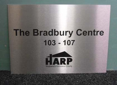 Engraved Stainless Plaque 250mm x 200mm