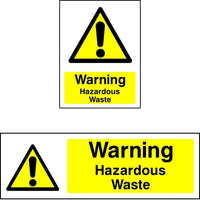 Warning Hazardous Waste Safety Sign