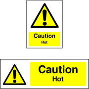 Caution Hot safety sign