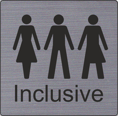 Inclusive toilet sign