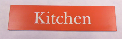Engraved Acrylic Laminate Kitchen Door Sign
