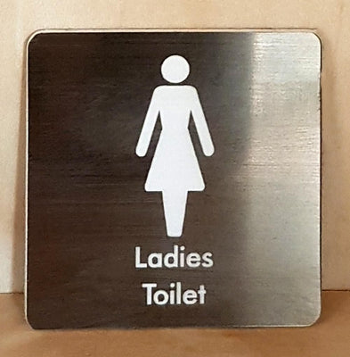 Engraved Ladies Toliet sign