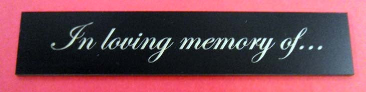 "Engraved Label 5"" x 1"""