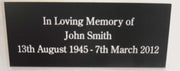Engraved Laminate Bench Plaque