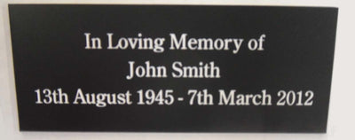 Engraved Laminate Plaque 125mm x 50mm