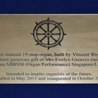 A3 Engraved Laminate Plaque