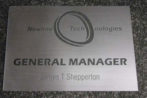 A5 Engraved Acrylic Laminate Plaque